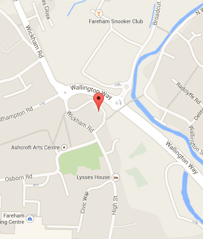 Map to Hayward Baker Personal Injury Solicitors
