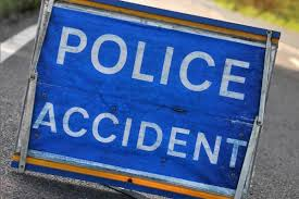 road traffic accident on roundabout
